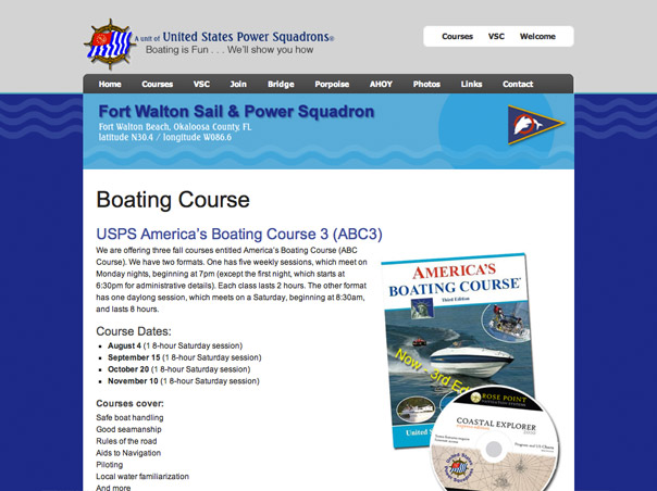 Screenshot of the FWSPS website